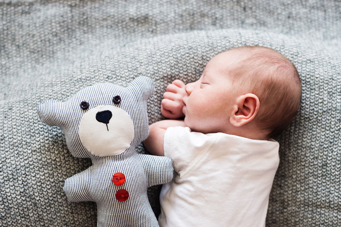 Why does a baby struggle to sleep?